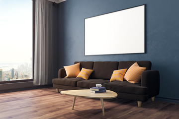 Modern room with banner side