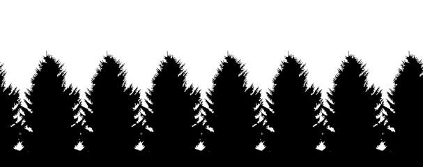 spruce border silhouette seamless