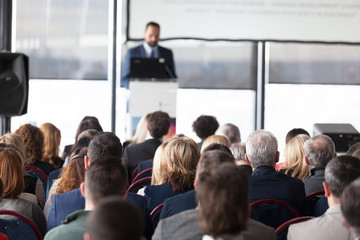 Business or professional conference. Presentation.