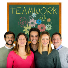 Happy Young teamwork