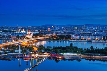 Wien Panorama bei Nacht