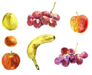 Set of fruits. Vegetarian food