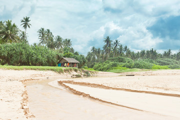 Balapitiya, Sri Lanka - Traditional living at the beach