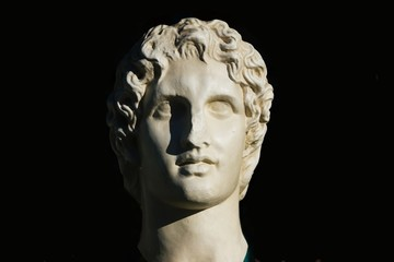 Alexander the great statue, souvenir in a shop of Athens, Greece.