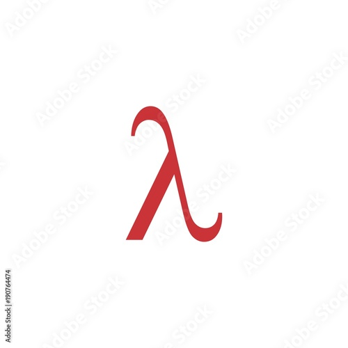 Letter Lambda Greek Symbol Logo Vector Stock Image And Royalty Free