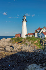 Portland Head Lighthouse in Cape Elizabeth, Maine, USA.