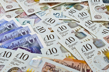 British pounds banknotes
