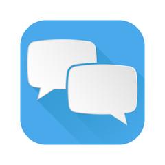 Dialog icon. Speech bubbles blue sign
