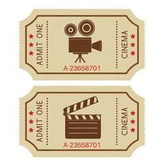 Cinema tickets. Old retro styled tickets