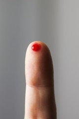 Blood on fingertip