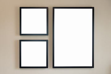 modern blank picture frame
