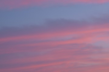 Blurred Texture of colorful Sunset clouds