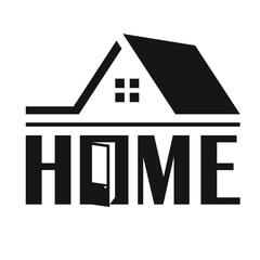 logo for construction company, a housewarming, moving. The word remade under the picture