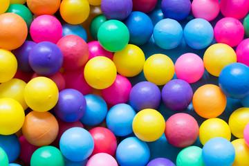 colorful plastic balls on children's playground