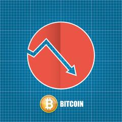 Vector bitcoin market crash graph on blueprint background bitcoin see more malvernweather Gallery