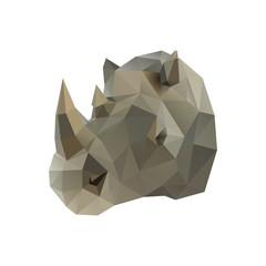 Low poly illustration. Rhino