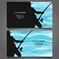 Shop fishing business card