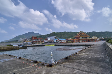 Fishing harbour in the village Fulong in Taiwan
