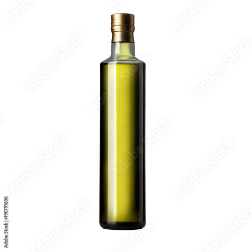 Bottle Of Olive Oil On A White Background Isolation Stock