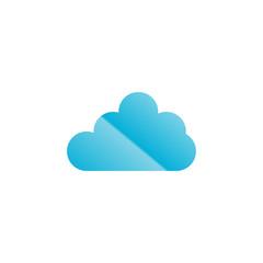 Blue gradient cloud logo design template vector