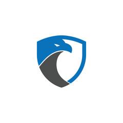 Security shield eagle logo design template vector