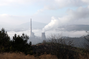 Coal thermal power plant air pollution