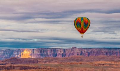 Balloon over Vermillion Cliffs near Page Arizona