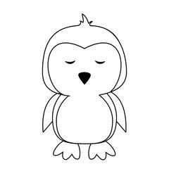 Cute penguin cartoon icon vector illustration graphic design