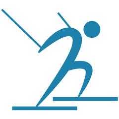 Downhill skiing icon