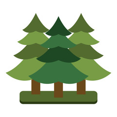 Tree pines symbol icon vector illustration graphic design