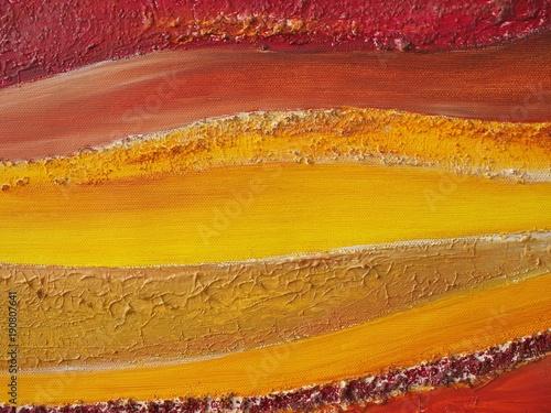 Malkunst - warme Farben fließen ineinander\