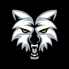 Wolf head mascot vector design.