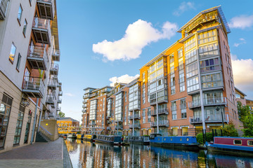 Apartments along the canal