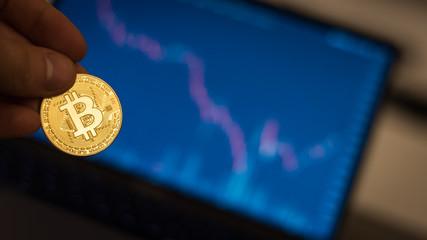 Obraz Kurs Bit coin wymiana kryptowaluta - fototapety do salonu