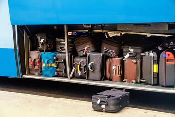 Koffer im Reisebus