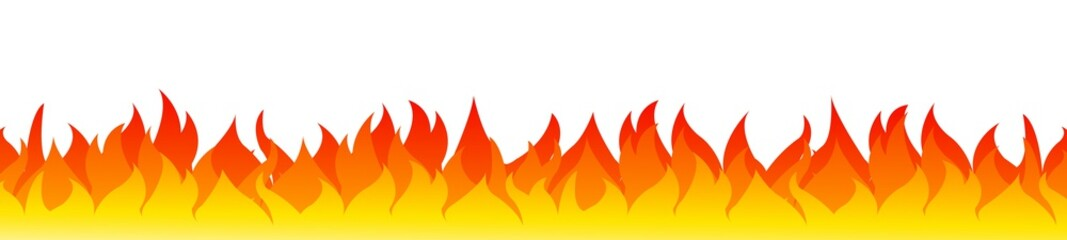 Fire on a white background. Vector illustration for design - vector for stock