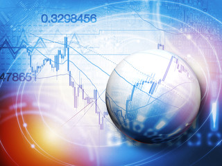 Forex trading technical analysis concept