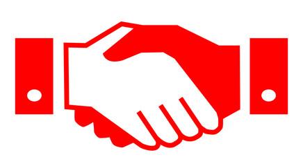 Handshake, partnership – for stock vector