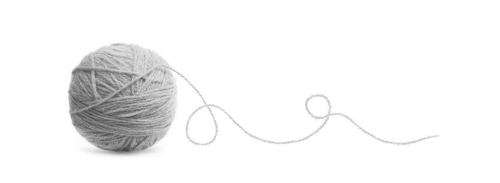 Blue ball of Threads wool yarn