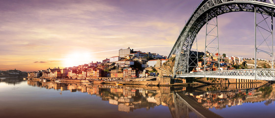 Nice view of the city Porto in Portugal (Europe)