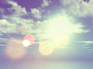 3D retro style image of cloudy sky