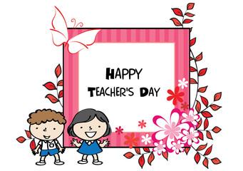 happy teacher's day card