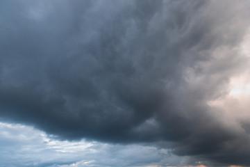 Stormy cloud pattern.