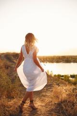 Lovely girl in white dress