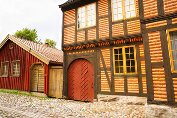 Traditional old houses in Oslo