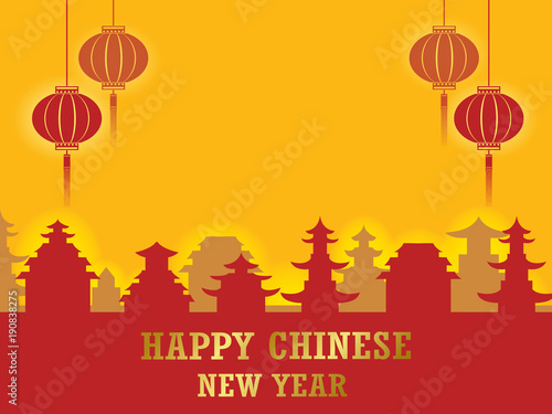 chinese paper cut style chinese new year background creative flat design greeting card template