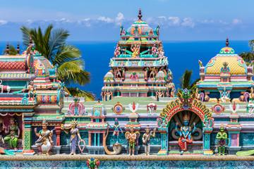 Photo sur Plexiglas Lieu de culte temple indien tamoul, île de la Réunion