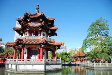 228 Peace Memorial Park in the city center of Taipei, Taiwan