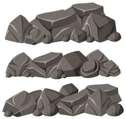 Three patterns of rocks in pile