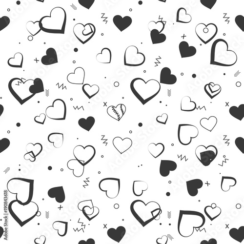 Love theme hearts valentine's day seamless pattern wallpaper